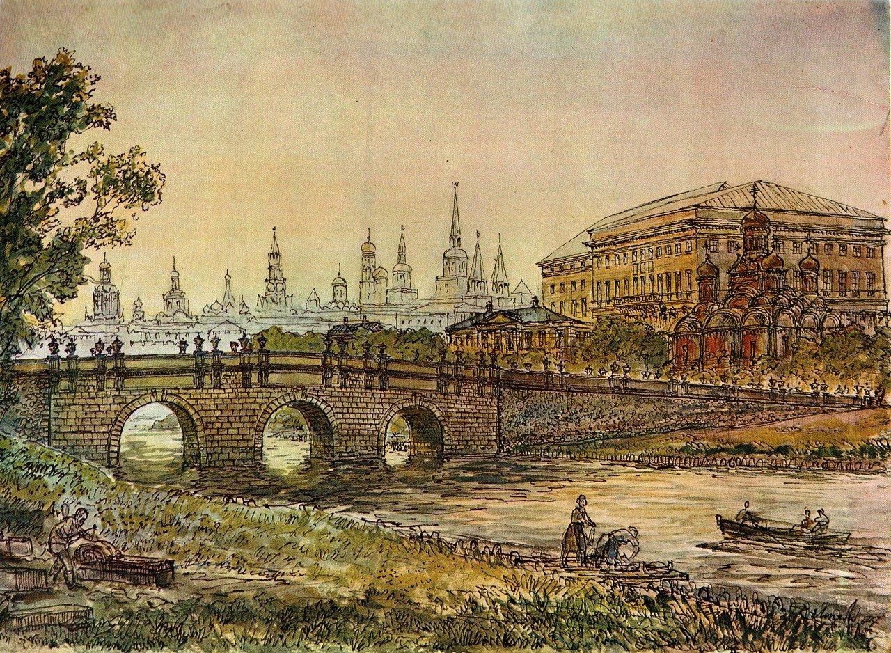 Кузнецкий мост в Москве на картине Лопяло фото