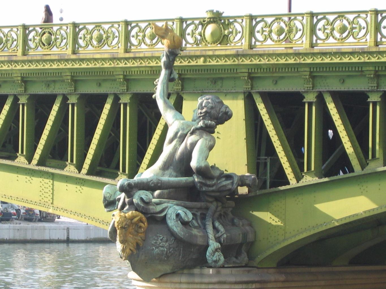 статуя Навигация на мосту Мирабо фотография