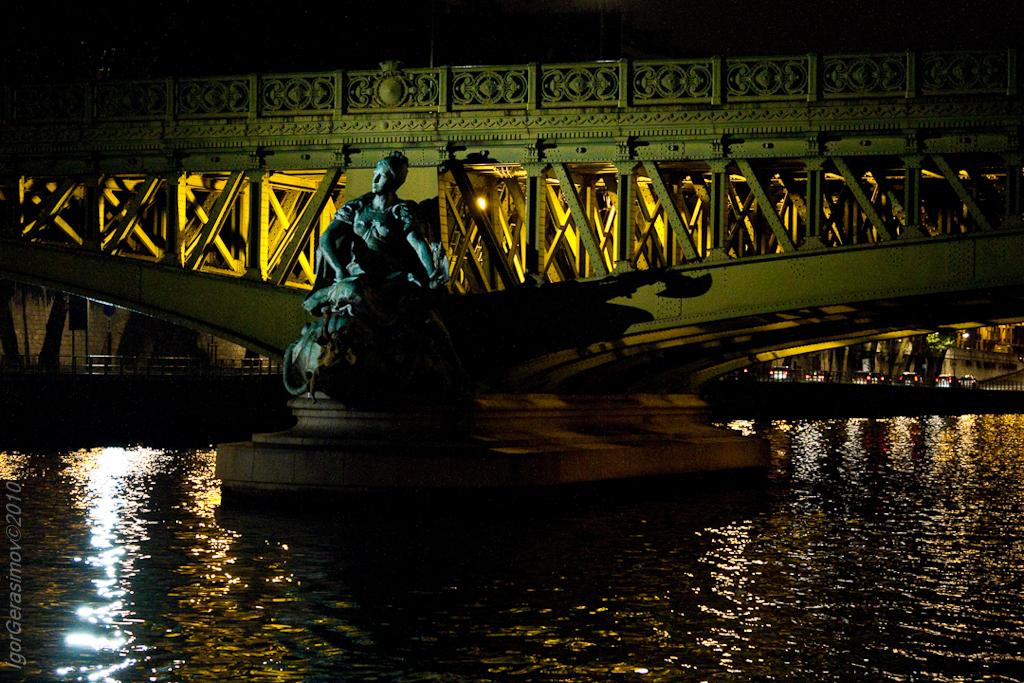 фото фрагмента моста Мирабо