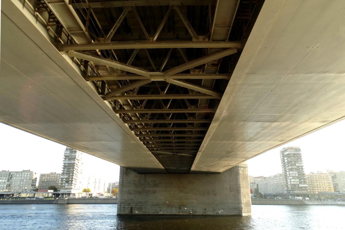 Володарский мост вид снизу фото