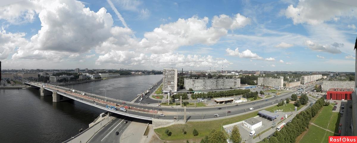вид сверху на Володарский мост фотография