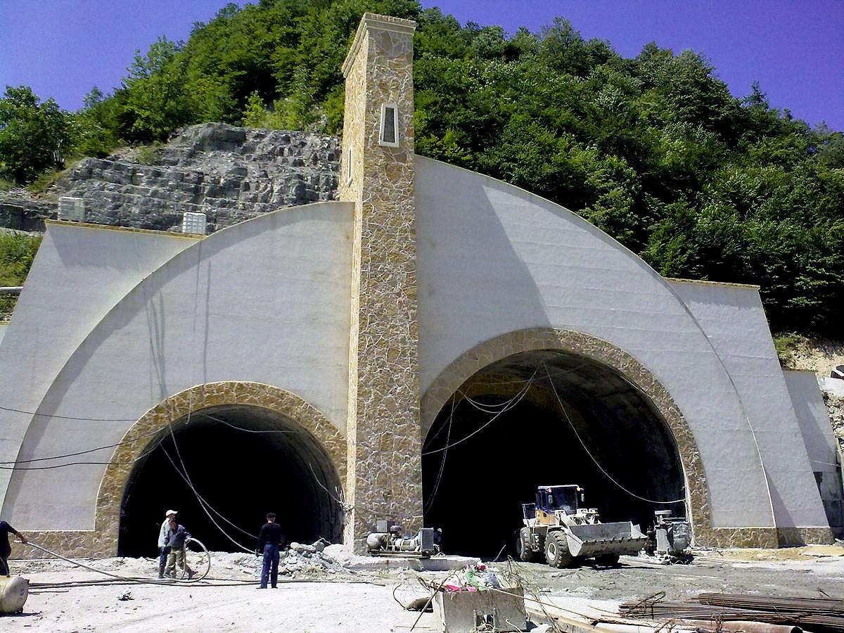 фото вывески Гимринского тоннеля