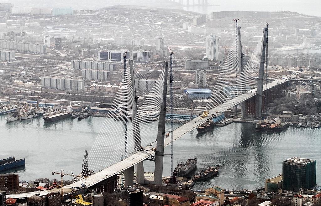 владивостокский мост вид сверху фотография