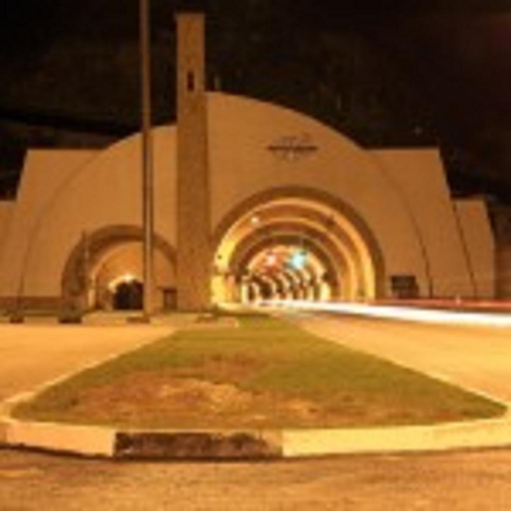Гимринский тоннель ночной вид фотография
