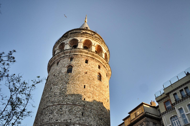 фотография верхней части Галатской башни