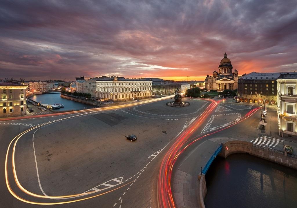 фотография вида на Санкт-Петербугский мост