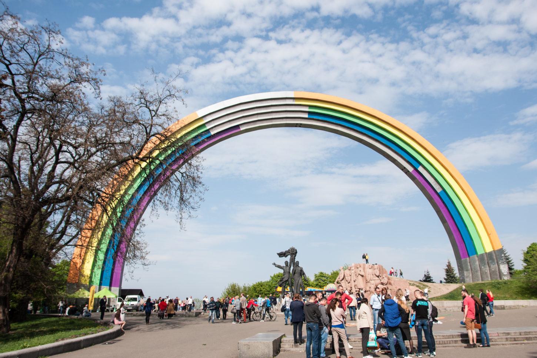 Киевская Арка Дружбы народов фотография