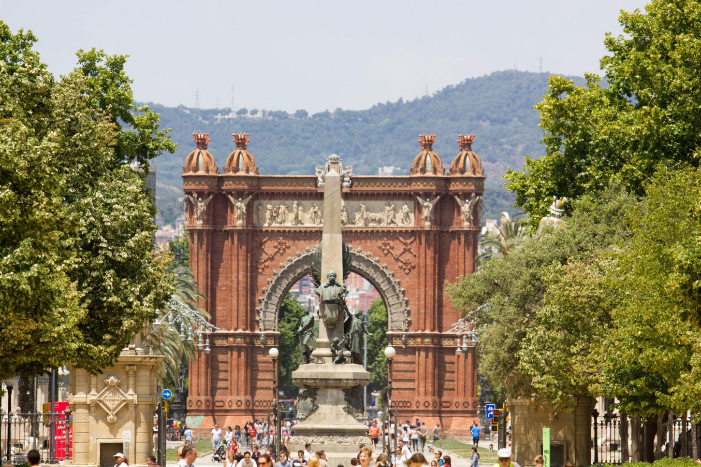фотография скульптуры Сельское хозяйство, промышленность и торговля Триумфальная арка Барселоны
