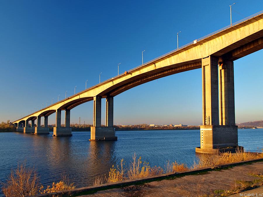 фото вида на Мызинский мост