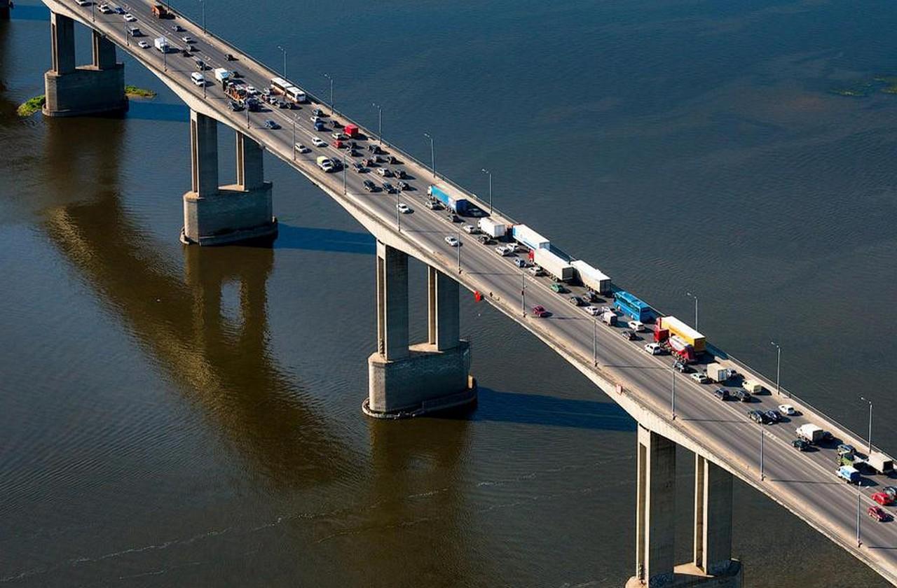Мызинский мост в Нижнем Новгороде фотография