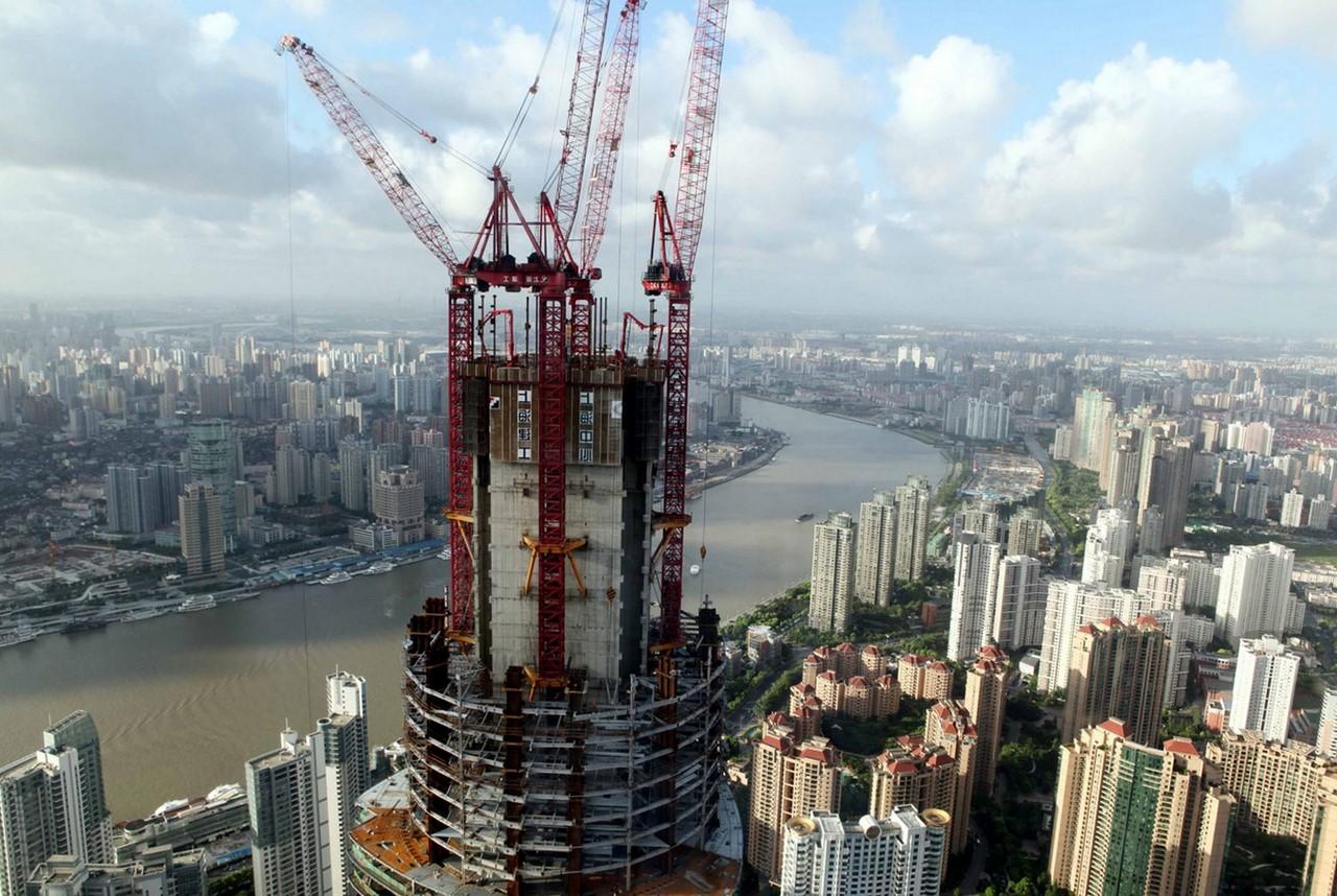 строительство Шанхайской башни фотография