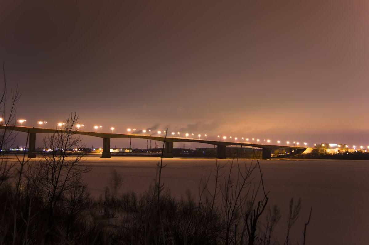 дорожное полотно на Мызинском мосту фото