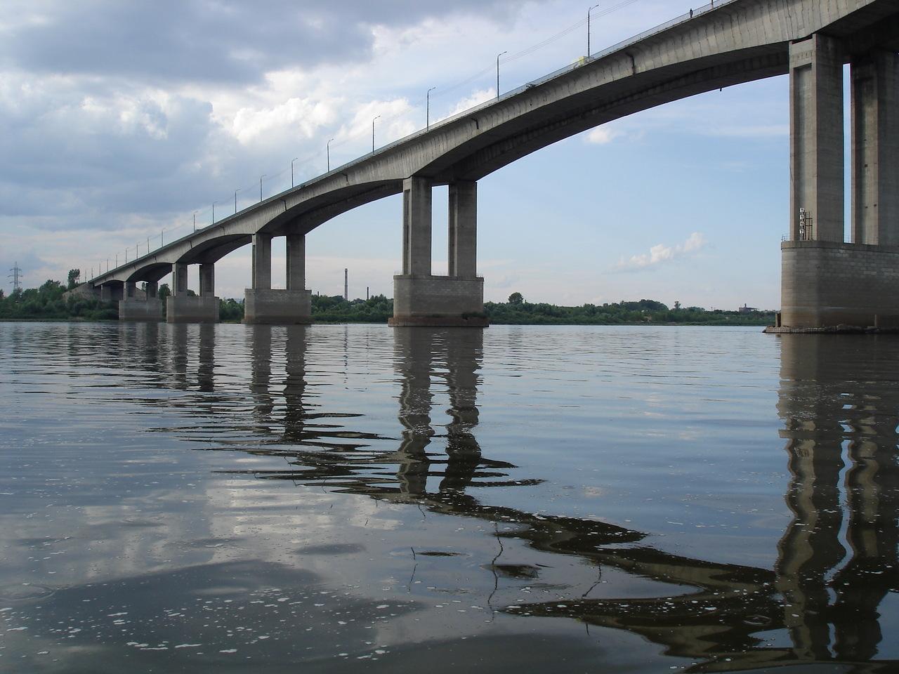 фото под Мызинским мостом в Нижнем Новгороде