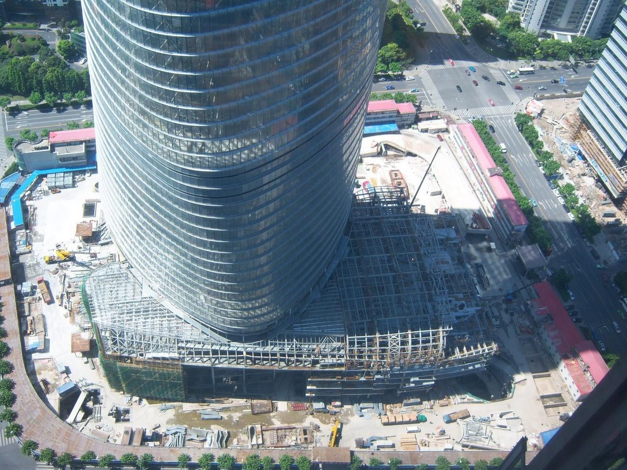 фото основания Шанхайской башни