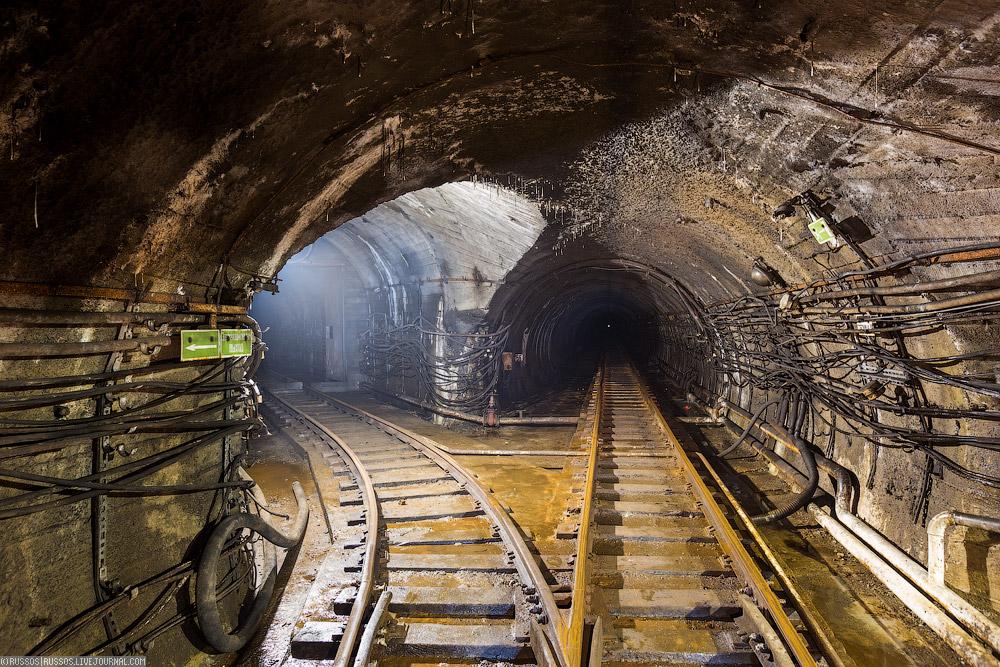 разветвление в Северомуйском тоннеле