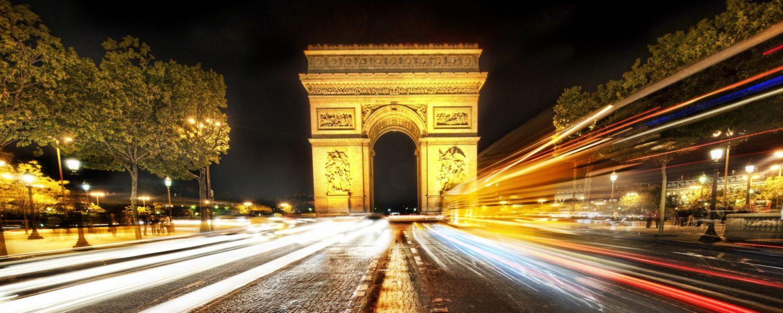 Триумфальная арка и Елисейские поля фото