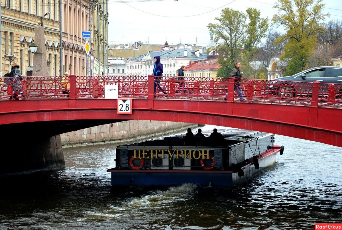 фото вида с Синего на Красный мост в СПб