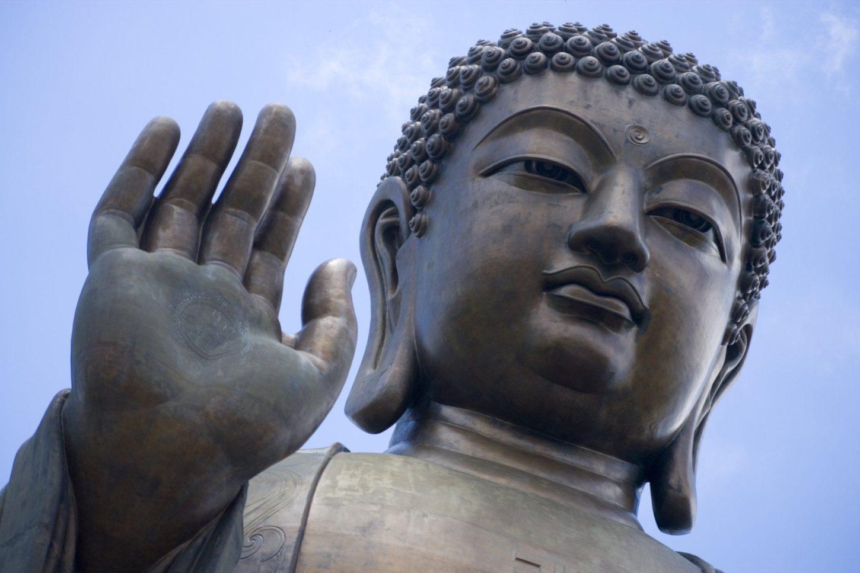 фотография руки Большого Будды на острове Лантау