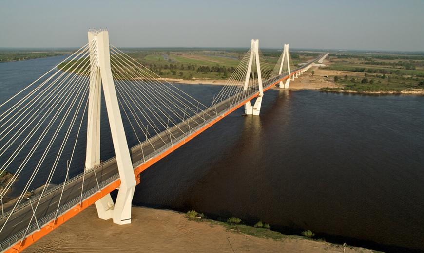 фото сверху вантового моста в Муроме