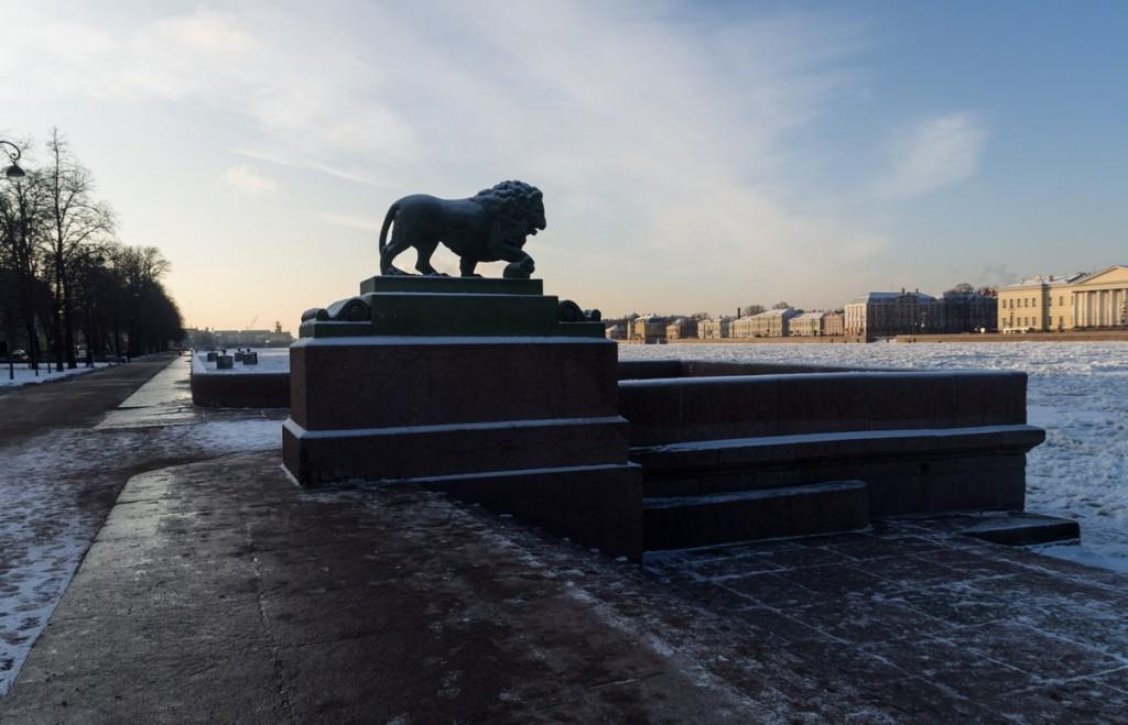 фото спуска со львами Дворцовый мост