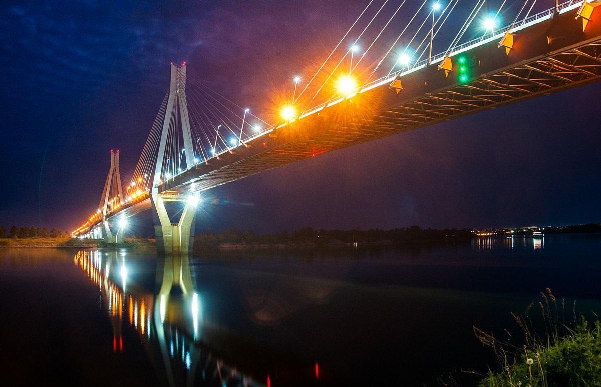 фото подсветки Муромского моста