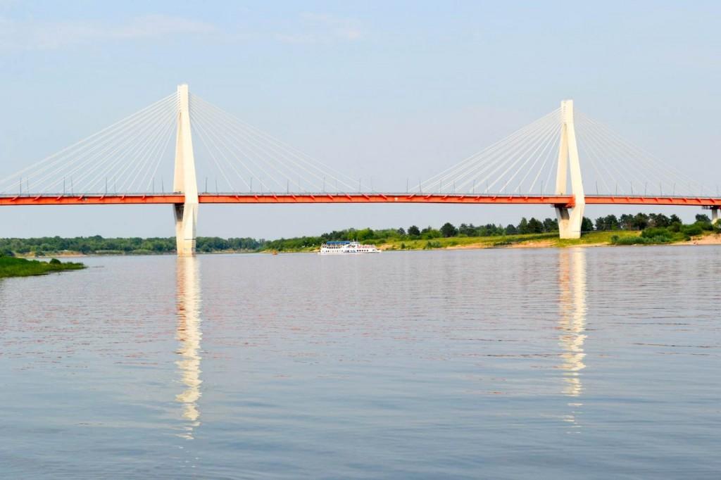 Муромский мост через Оку вид сбоку фото