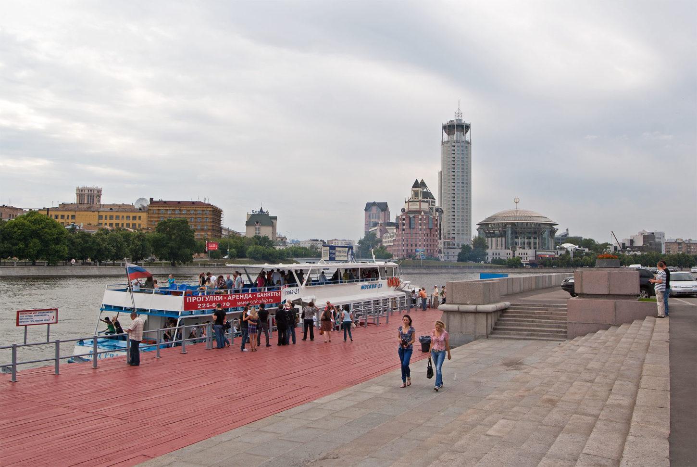 фото причала Новоспасский мост
