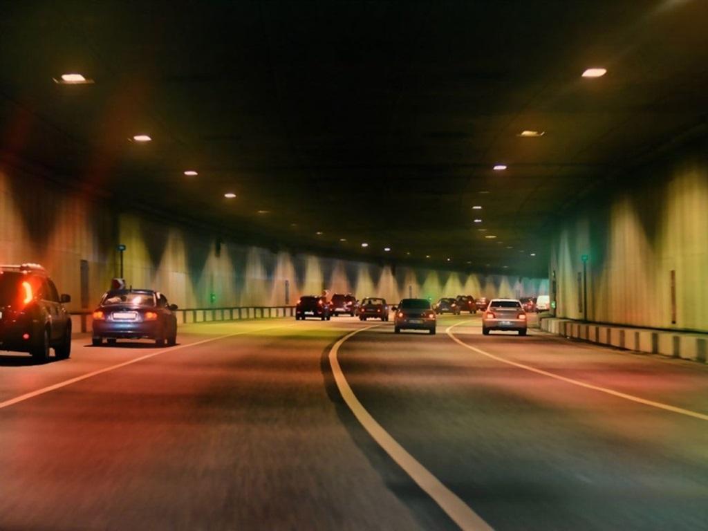дорога в Лефортовском тоннеле фото