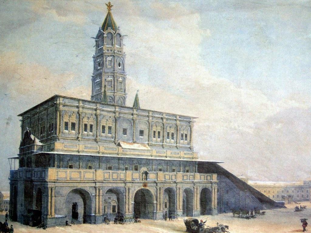 гравюра Арну Сухаревская башня фото
