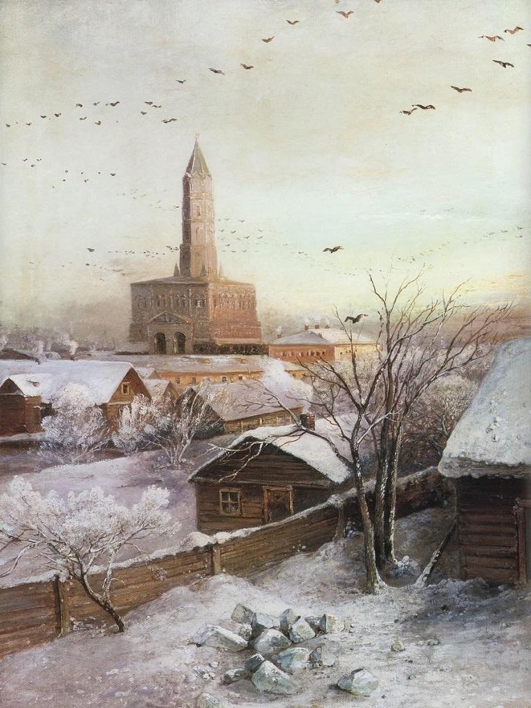 фото картины Саврасова Сухарева башня