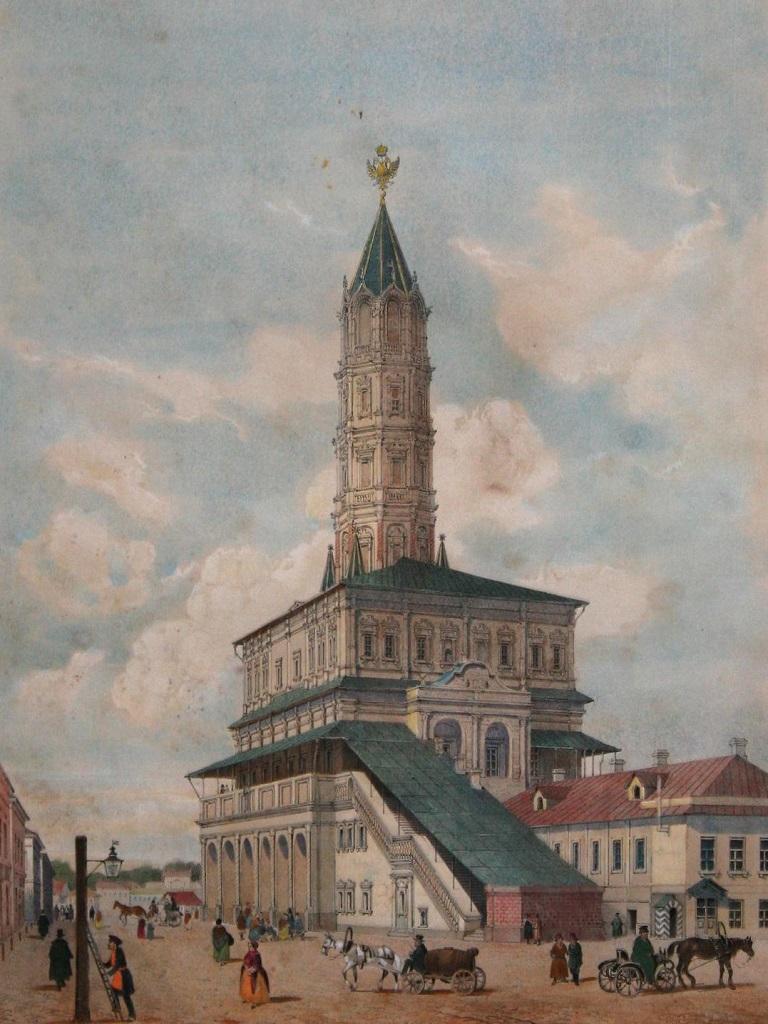 литография Датциаро Сухарева башня фото