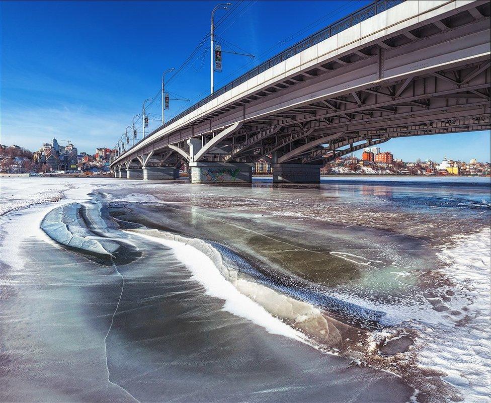 фото под Чернавским мостом в Воронеже
