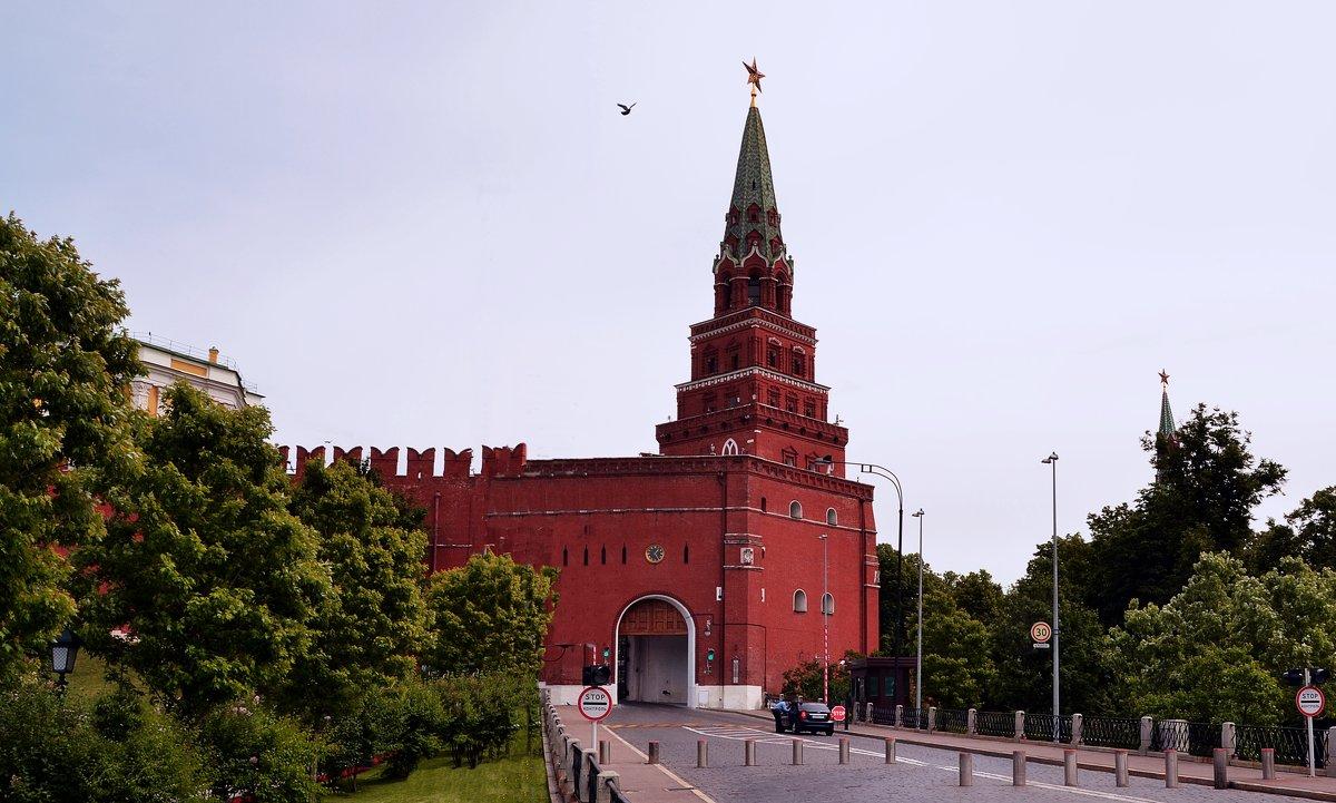 Боровицкая башня вид сбоку фотография