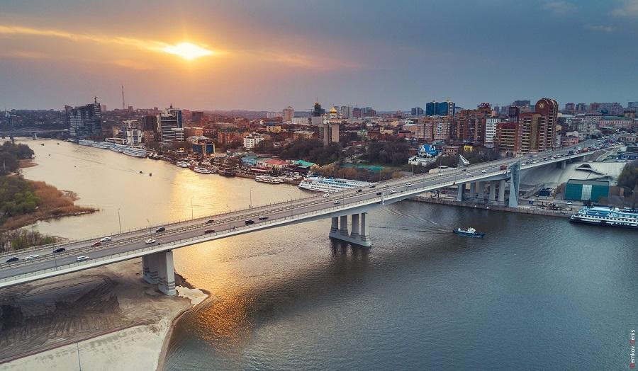 ростовский Ворошиловский мост вид сбоку фотография