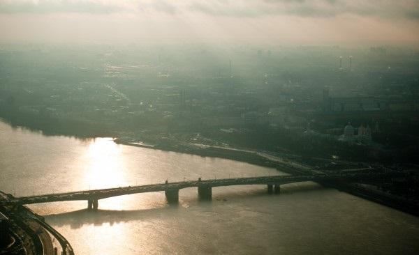 мост Александра Невского в Санкт-Петербурге вид сверху фото