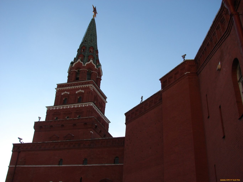 верхняя часть Боровицкой башни фото