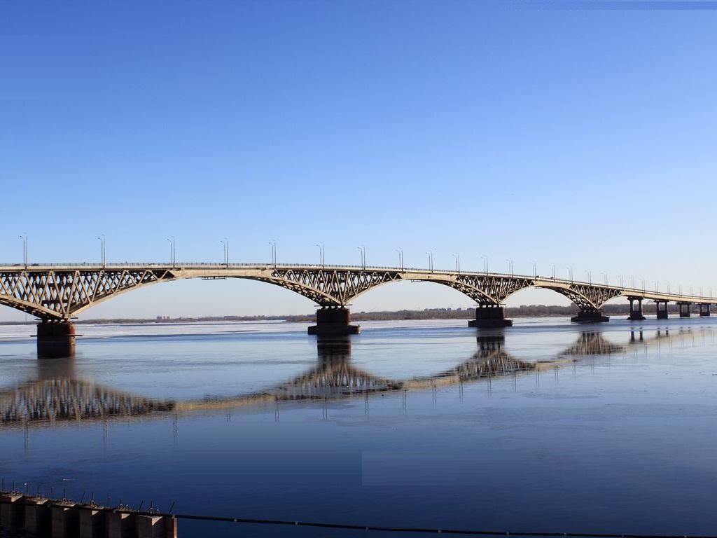 фото моста Саратов-Энгельс