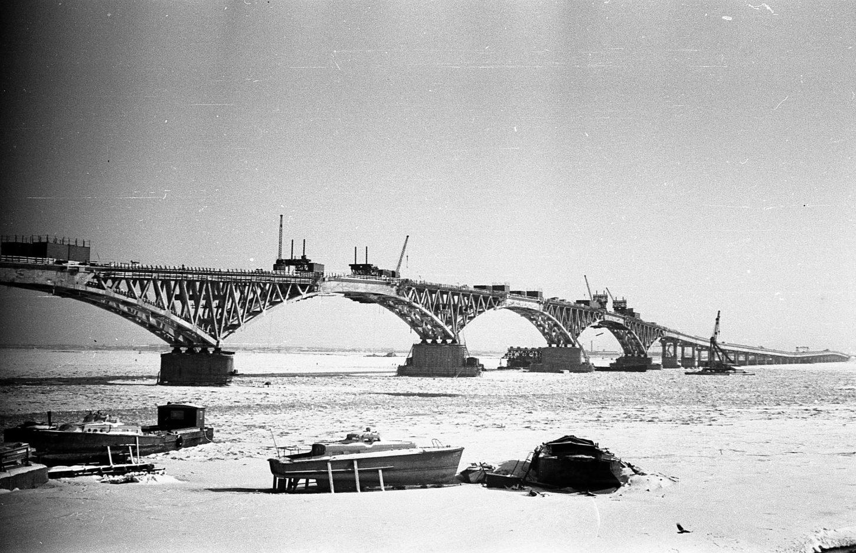 конструкция Саратовского моста фотография