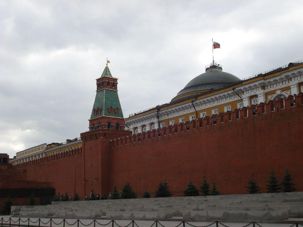 фото вида на Сенатскую башню московского кремля