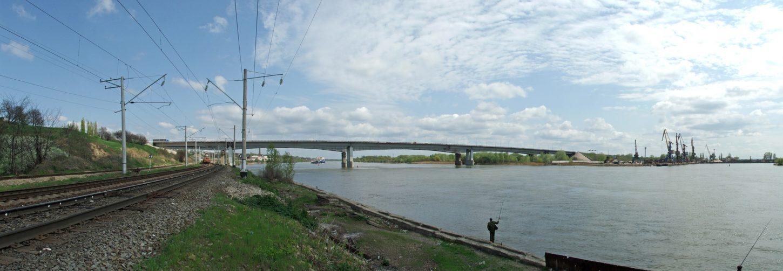 Аксайский мост через Дон вид сбоку фото