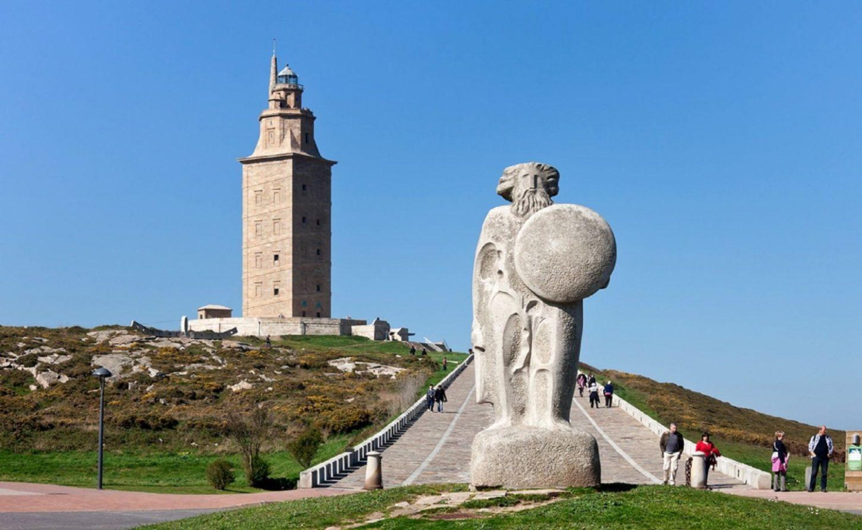 башня Геркулеса вид сверху