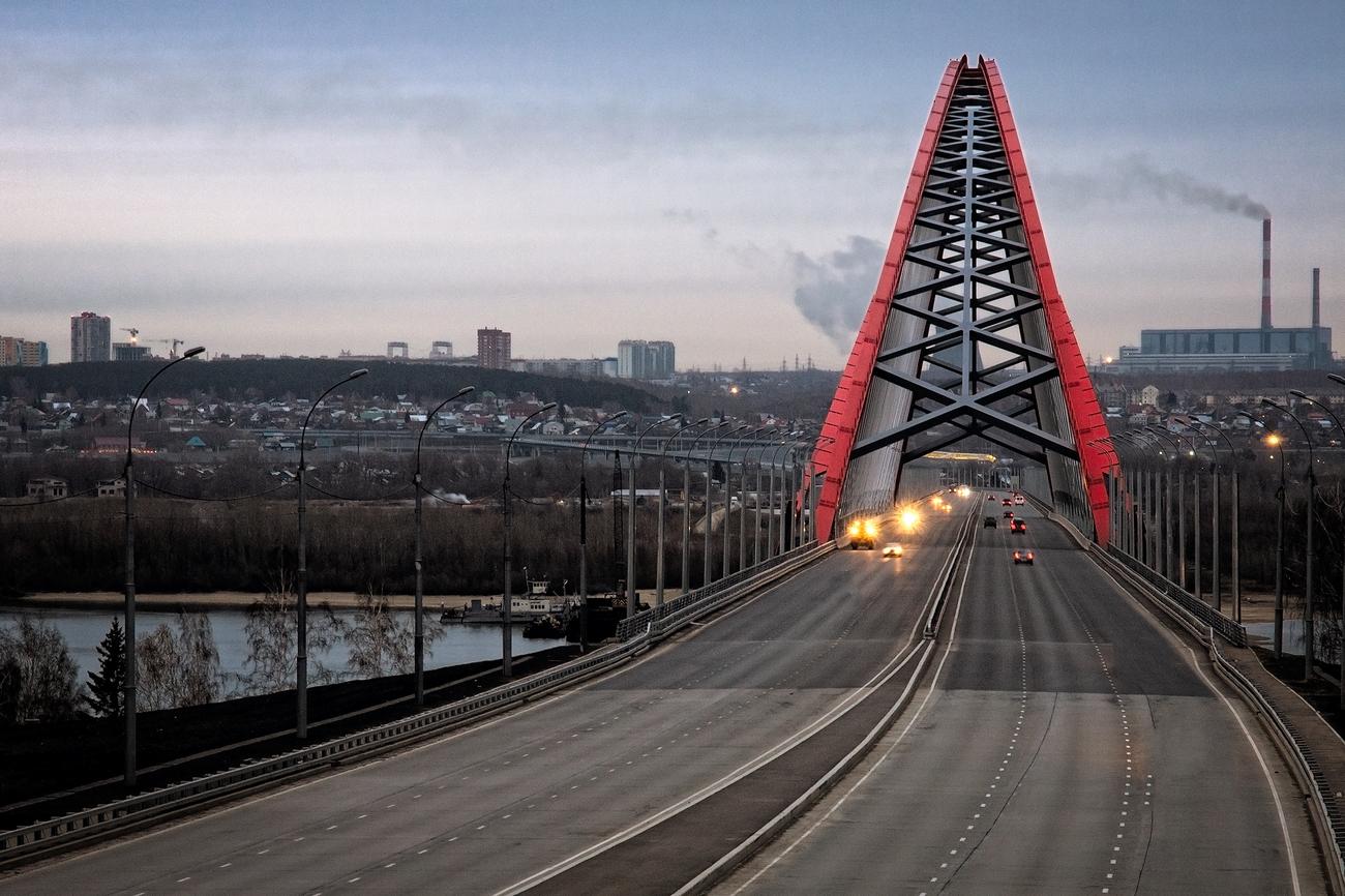 фото на Бугринском мосту