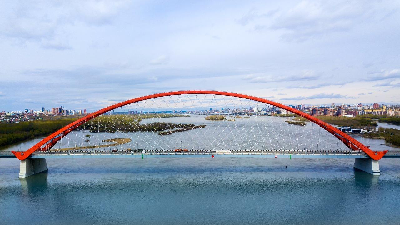 фотография арки Бугринского моста