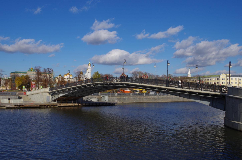 фото вида на Лужков мост