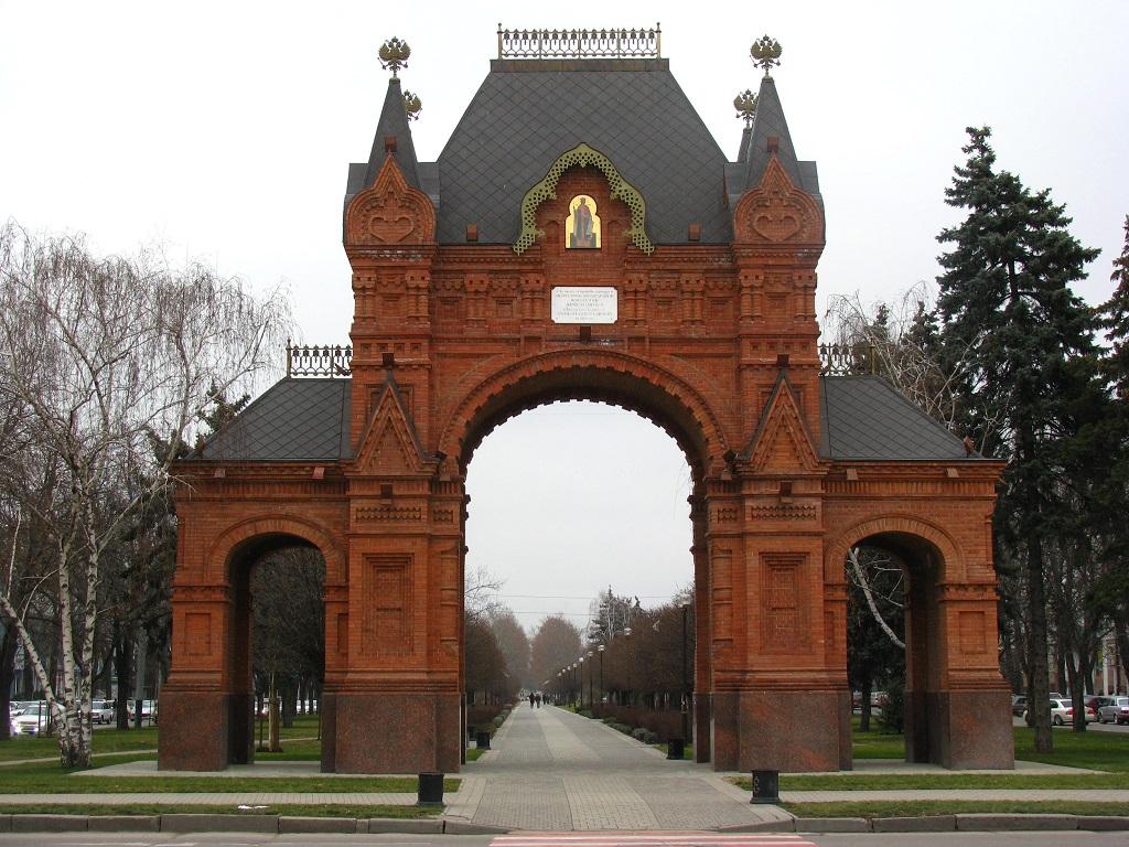 фото краснодарской Триумфальной арки