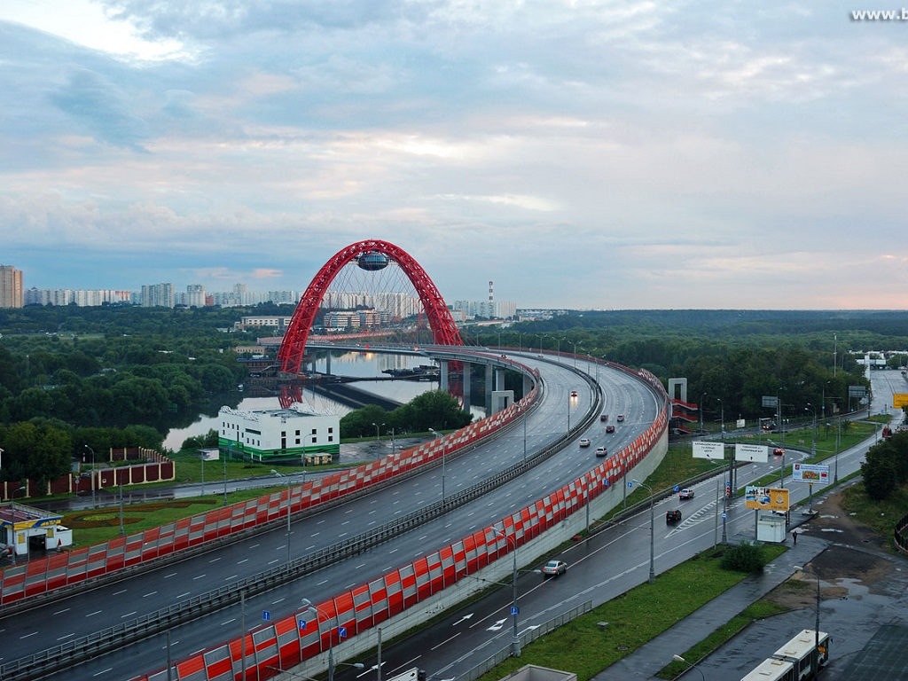 Живописный мост в Москве фотография