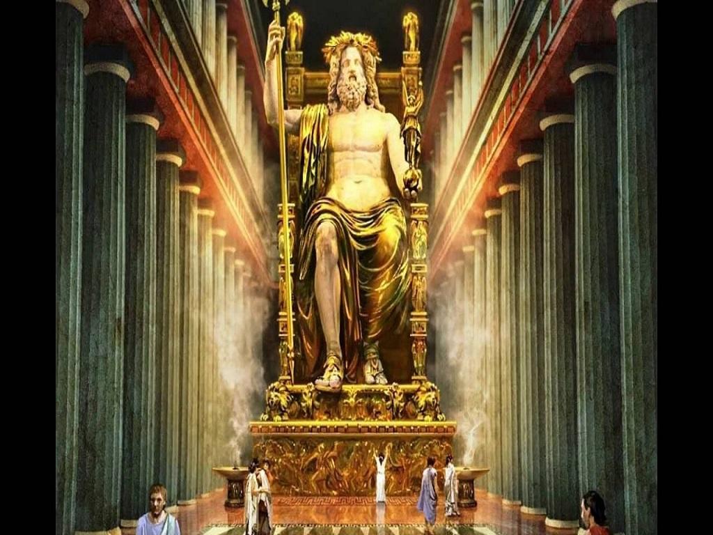 статуя Зевса Олимпийского вид вблизи