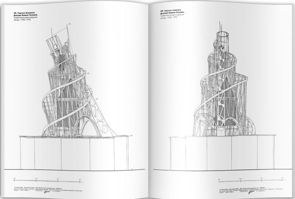 Чертежи башни Татлина
