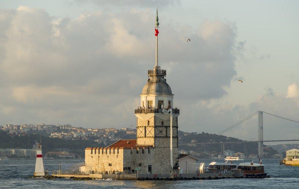 Вид башни с моря