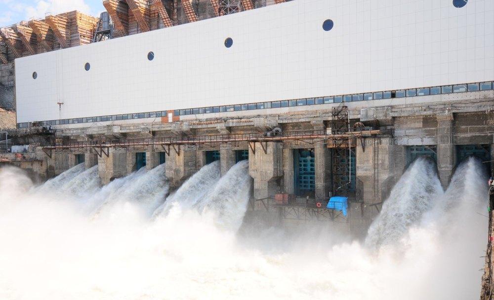 ГЭС в работе
